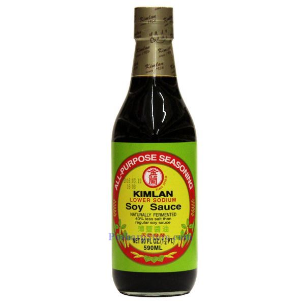 picture of kimlan low sodium soy sauce 20 fl oz
