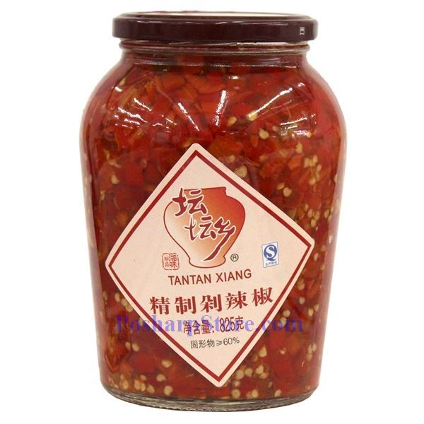 Hunan Style Chopped Pickled Red Chili Peppers (Duolajiao) 1.82 Lbs