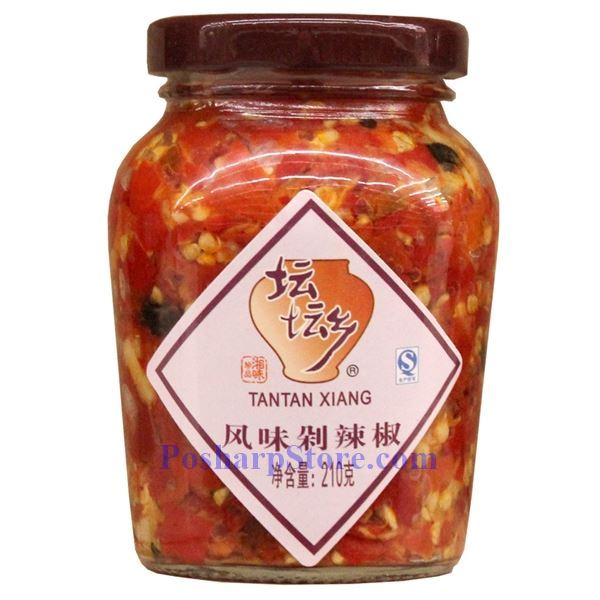 Tantan Xiang Chopped Pickled Red Chili Peppers (Duolajiao) With Black ...