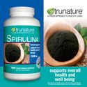 Picture of trunature® Spirulina 1500 mg 400 Vegetarian Capsules