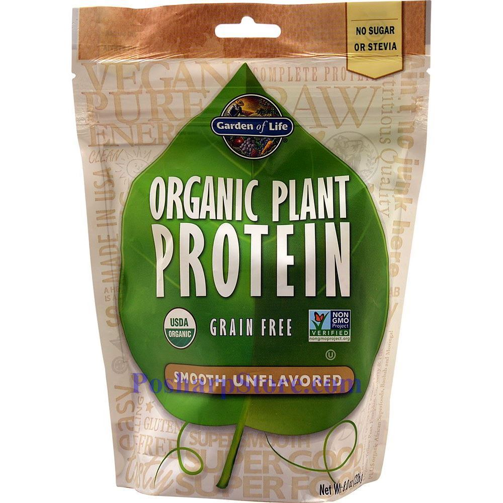 Garden Of Life Organic Plant Protein Powder Smooth Unflavored 8 3 Oz