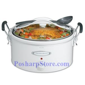 Picture of Hamilton 33163H Stay or Go 6 Quart Oval Slow Cooker