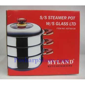 Picture for category Myland KSTS0126 10-Inch Triple-Tier Stainless Steel Steamer Pot