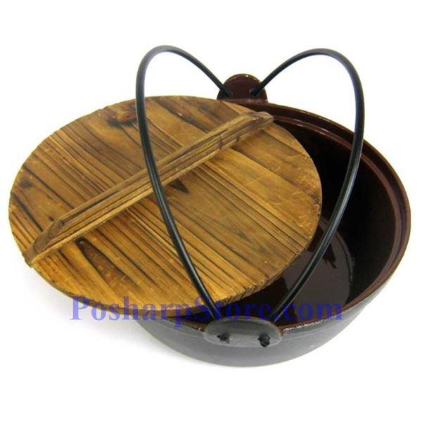 分类图片 日式铸铁火锅、9.5英寸,木锅盖,木锅垫