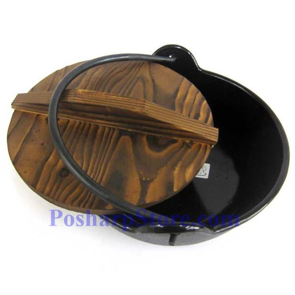 Picture for category Cast Iron Nabe Pot  6.5 Inch  w/ Wooden Lid  & Base