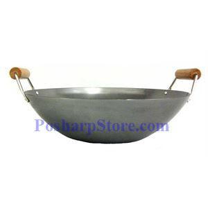 Picture of Double Wood Handle Iron Wok