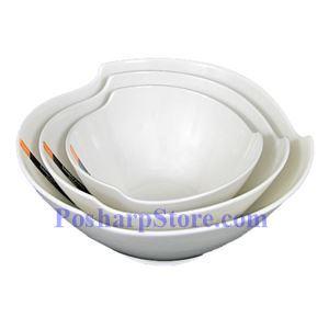图片 圆角三角形白色瓷碗 PHP-B001-56
