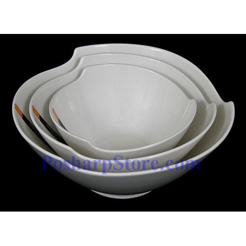 分类图片 圆角三角形白色瓷碗 PHP-B001-56