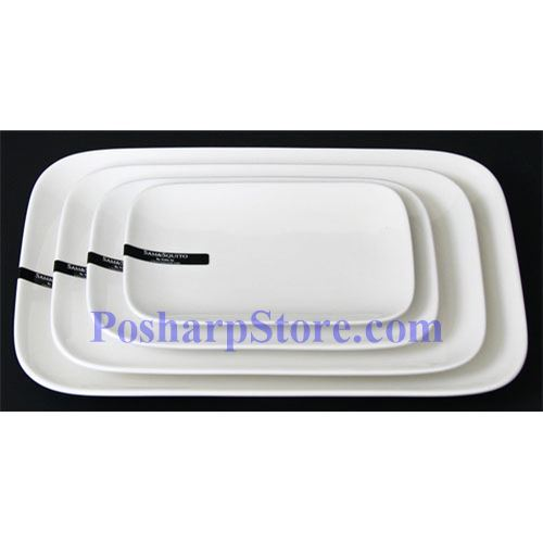 Picture for category Round Edged Rectangle Porcelain Plate PHP-A004-38