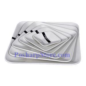 图片 四方形白瓷深盘 PHP-A003