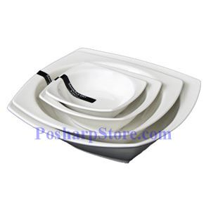 Picture of White Square Shallow Porcelain Bowl PHP-A003-52