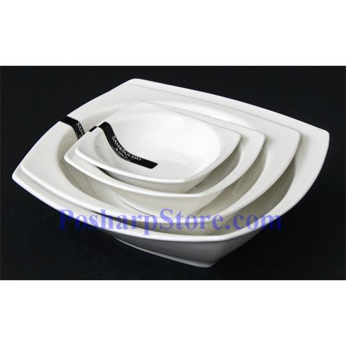 Picture for category White Square Shallow Porcelain Bowl PHP-A003-52