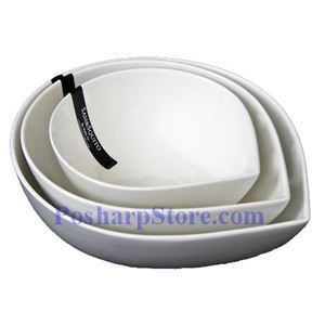 Picture of White Round Drop Porcelain Bowls PHP-B001-52