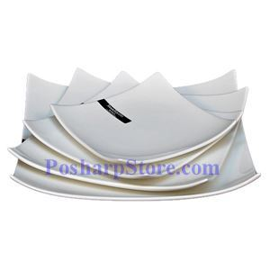 Picture of White  Square Porcelain Plate PHP-A168