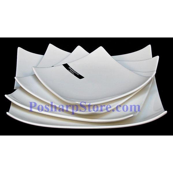 分类图片 正方形白色瓷盘 PHP-A168