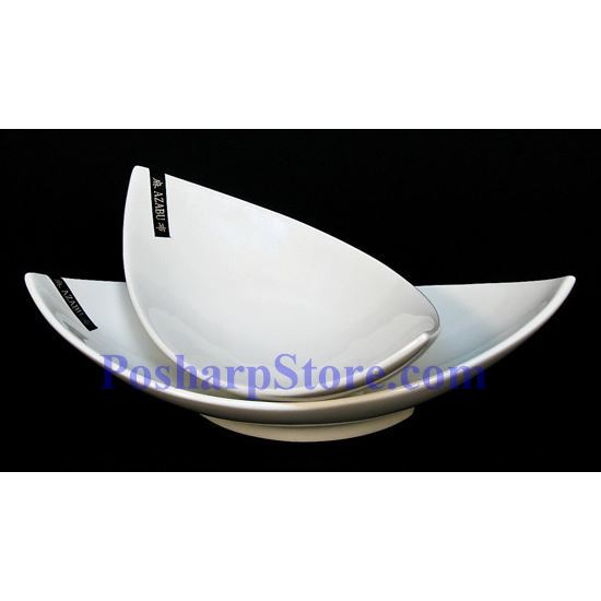 Picture for category White Leaf Porcelain Plate PHP-A3131