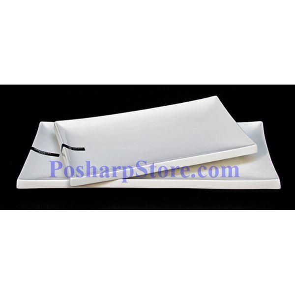 分类图片 长方形带边白色瓷盘 PHP-A008