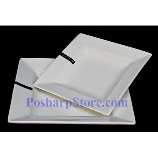 Picture for category White Rhombus Porcelain Plate PHP-A1008