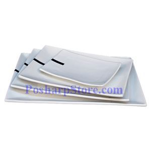 Picture of White Rectangle Porcelain Plate PHP-A1087