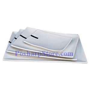 图片 长方形白色瓷盘 PHP-A1087