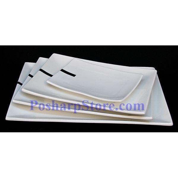 分类图片 长方形白色瓷盘 PHP-A1087