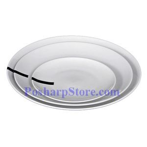 Picture of White Round Porcelain Plate PHP-A0020