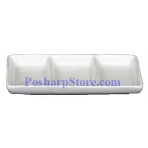 Picture of White Divided Rectangle Porcelain Saucer PHP-A0226