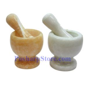 Picture of Natural Jade Mortar and Pestle