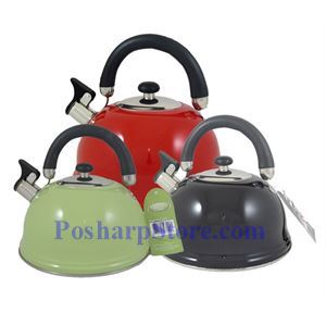 Picture of Whistling Spout 12 Cup Stainless Steel Tea Kettle with Folding Handle