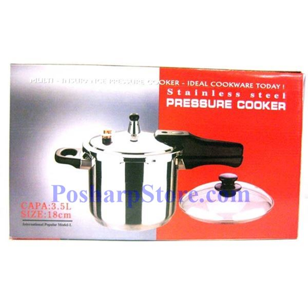 "Picture for category Myland 9"" Multi-Insurance S/S Pressure Cooker with Extra  Glass Lid"