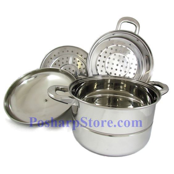 Picture for category Zhenneng 24CM Two Tier Multi-functional Stainless Steel Steamer Pot