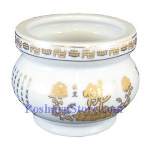 Picture of Chinese Buddhish 4-Inch Ceramic Incense Stick Burner