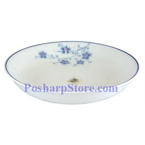 Picture of Cheng's White Jade Porcelain 8-Inch Blue Plum Blossom Deep Plate