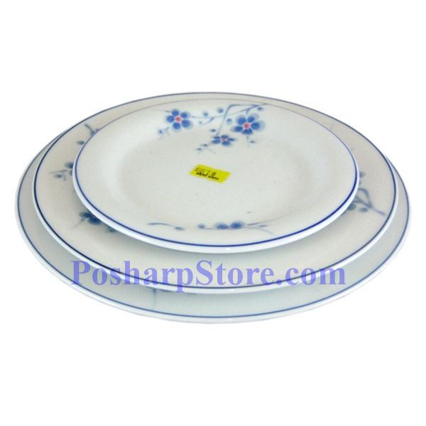 Picture for category Cheng's White Jade Porcelain 8-Inch Blue Plum Rim Edged Plate