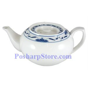 Picture of CAC Durable China Blue Lotus 1-Liter Tea Pot