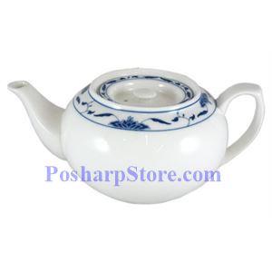图片 中艺陶瓷1升荷叶花纹茶壶