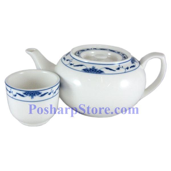 分类图片 中艺陶瓷1升荷叶花纹茶壶