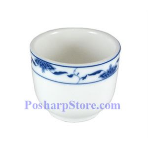 Picture of CAC Durable China Blue Lotus Tea Cup