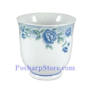 Picture of Cheng's Blue Peony Porcelain Teacup Flaring