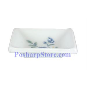 Picture of Cheng's Blue Peony Porcelain Rectangle Saucer