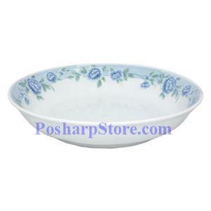 图片 Cheng氏白色陶瓷蓝牡丹8吋饭盘