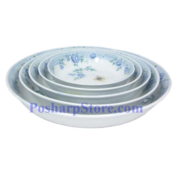 分类图片 Cheng氏白色陶瓷蓝牡丹8吋饭盘