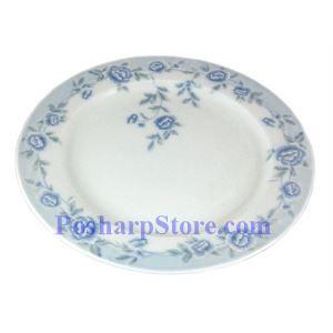 图片 Cheng氏白色陶瓷蓝牡丹10吋平盘