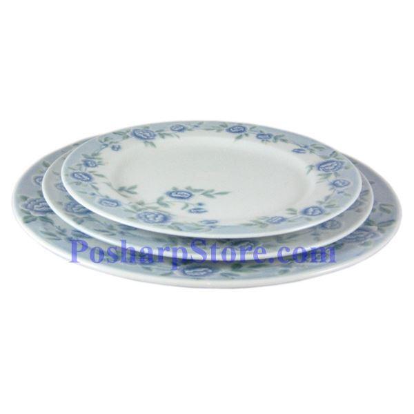 分类图片 Cheng氏白色陶瓷蓝牡丹10吋平盘