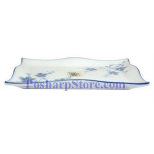 图片 Cheng's White Jade Porcelain Blue Plum Blossom 7-Inch Waved Saucer