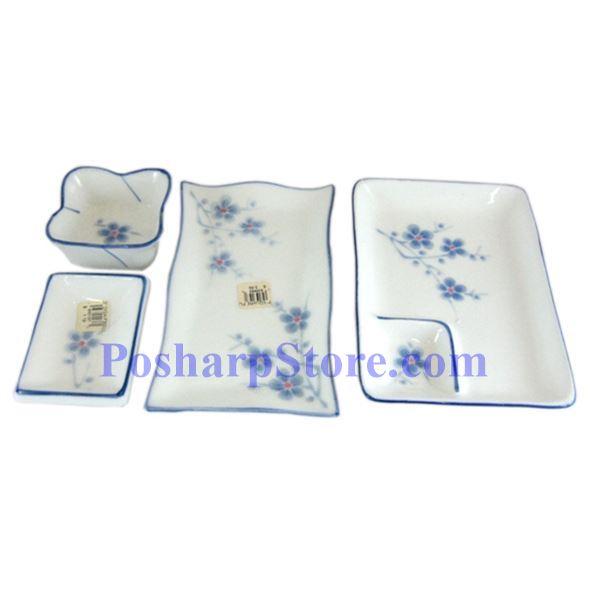 分类图片 Cheng's White Jade Porcelain Blue Plum Blossom 7-Inch Waved Saucer