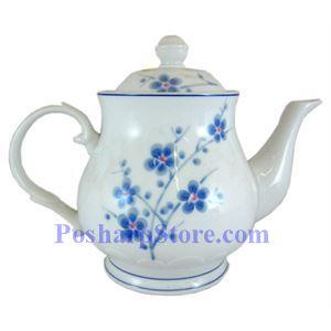 Picture of Cheng's White Jade Porcelain Blue Plum Blossom Teapot