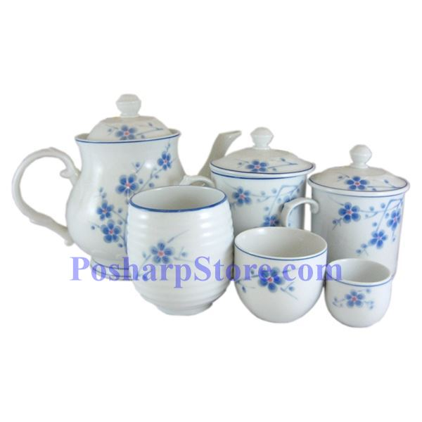 分类图片 Cheng's White Jade Porcelain Blue Plum Blossom Waved Teacup