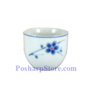 Picture of Cheng's White Jade Porcelain Blue Plum Blossom Small Teacup