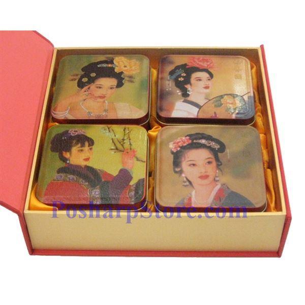 分类图片 香港福香园纯正白莲蓉精装月饼